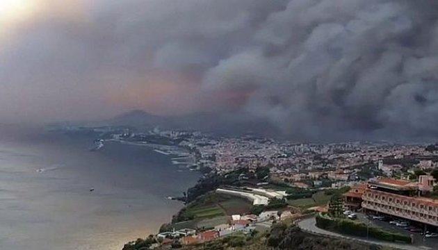 Оперативный мониторинг пожаров на о. Мадейра для МЧС России (15.08.16)