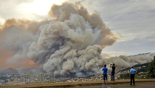 Оперативный мониторинг пожаров в Португалии для МЧС России (16.08.16)