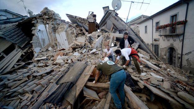 Оперативный мониторинг последствий землетрясения в Италии для МЧС России (25.08.16)