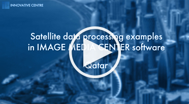 Satellite data processing examples in IMAGE MEDIA CENTER. Qatar