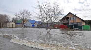 Моделирование затоплений в с.Абатское Тюменской области для МЧС России
