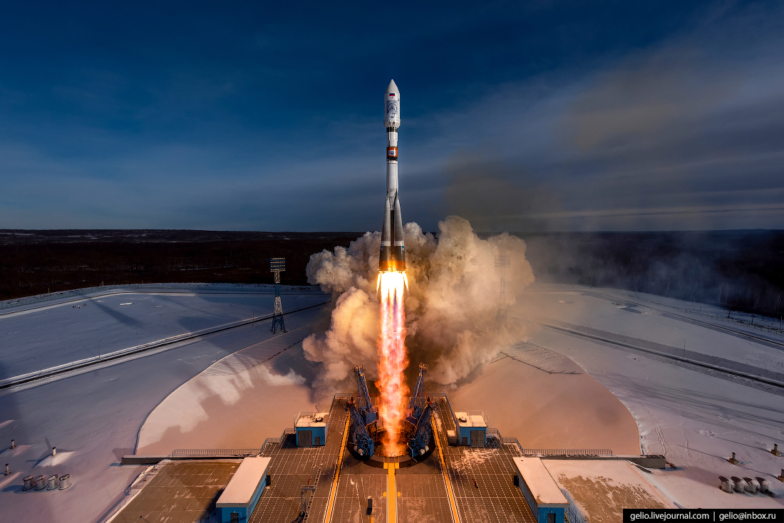 """The """"Soyuz-2.1a"""" launch vehicle launched from the Baikonur cosmodrome"""